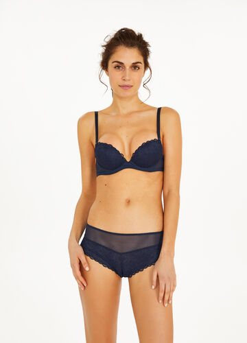 Stretch French knickers with embroidery