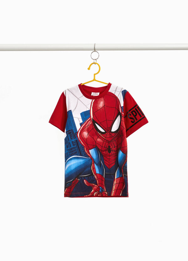 T-shirt cotone maxi stampa Spiderman