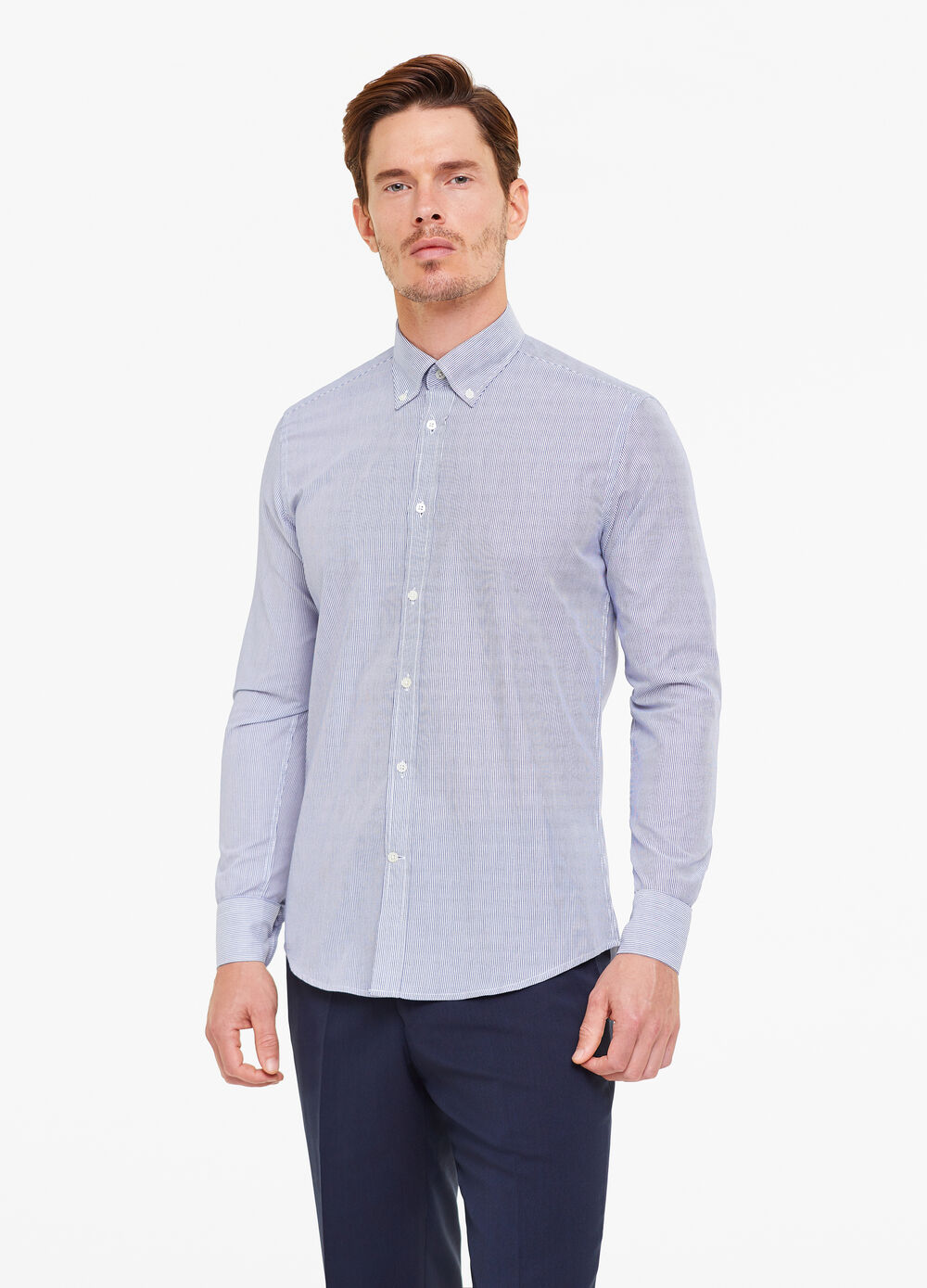 Slim-fit shirt in cotton blend