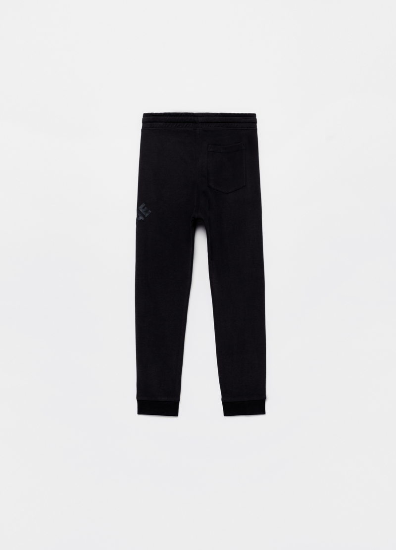 Fleece joggers with drawstring image number null