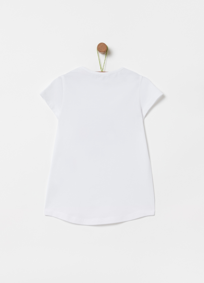T-shirt cotone stretch con stampa image number null