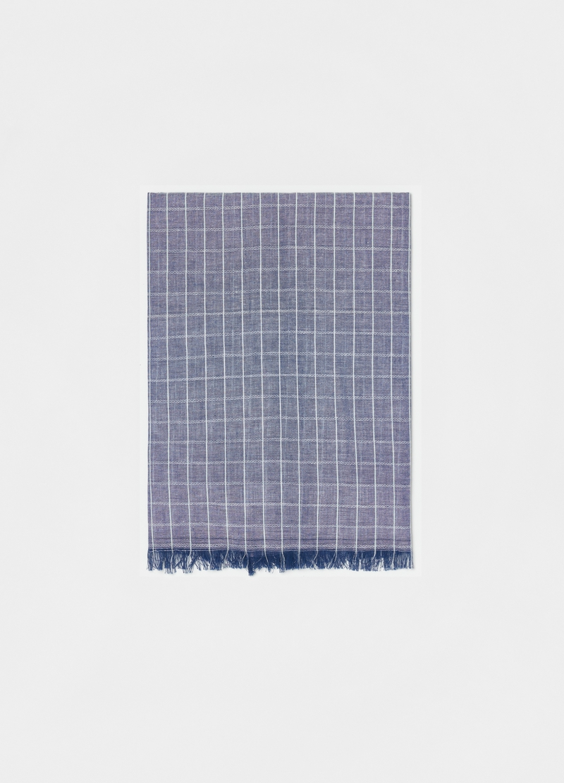 Checked cotton scarf image number null