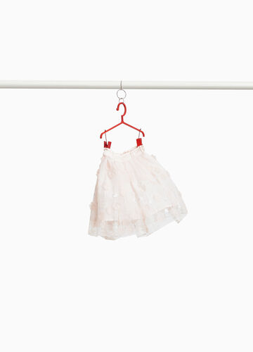 Tulle skirt with glitter embroidery