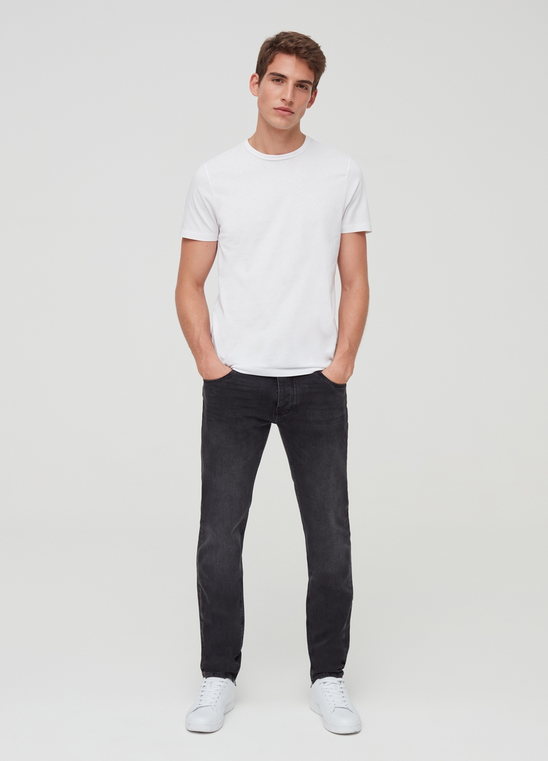 Faded-effect stretch premium jeans image number null