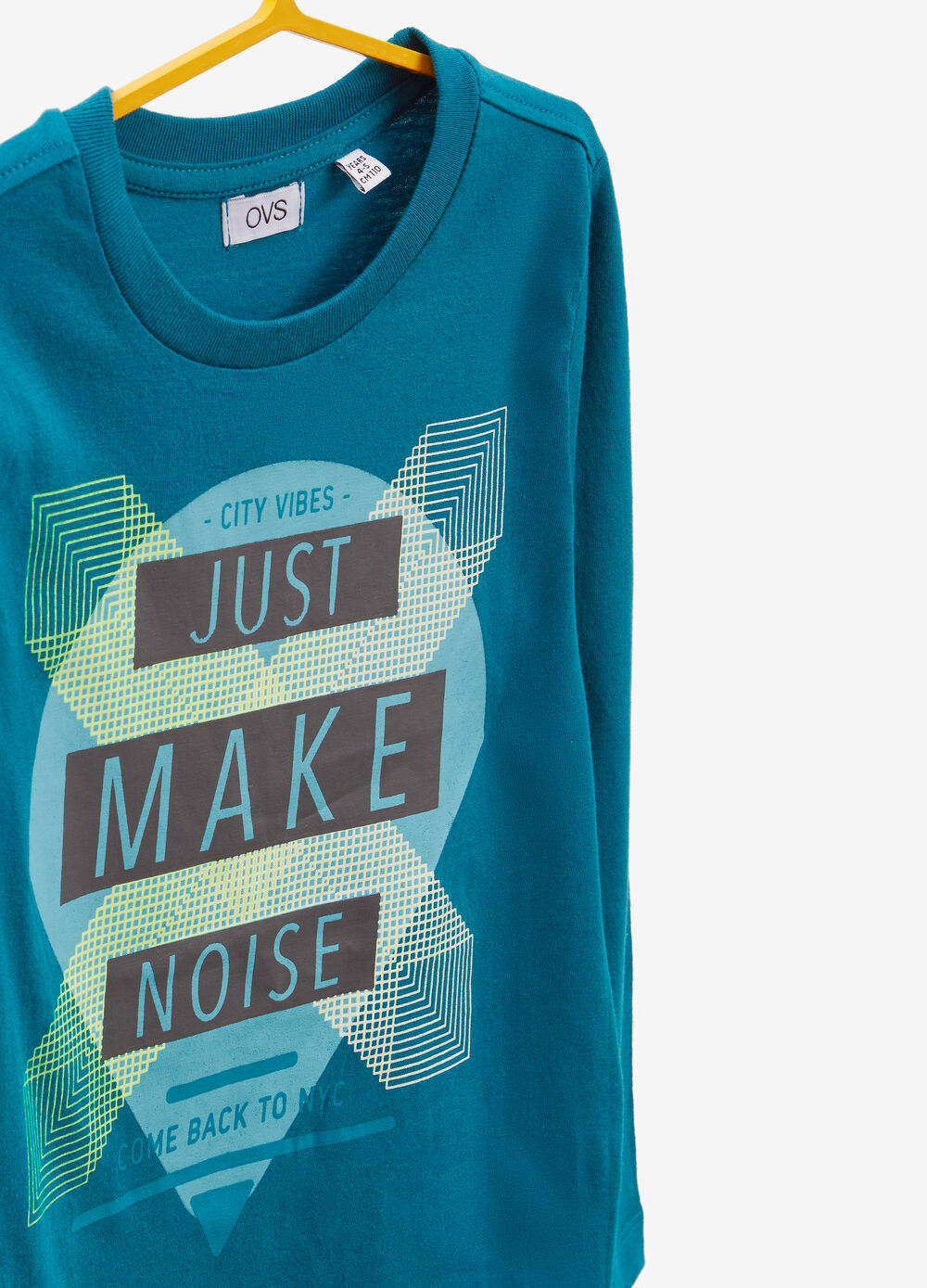 Long-sleeved cotton T-shirt with lettering