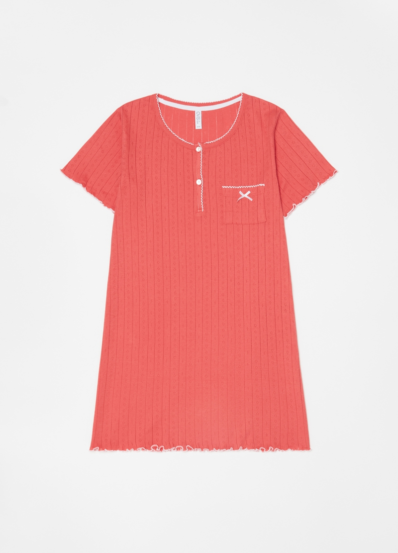 100% cotton ribbed nightdress image number null