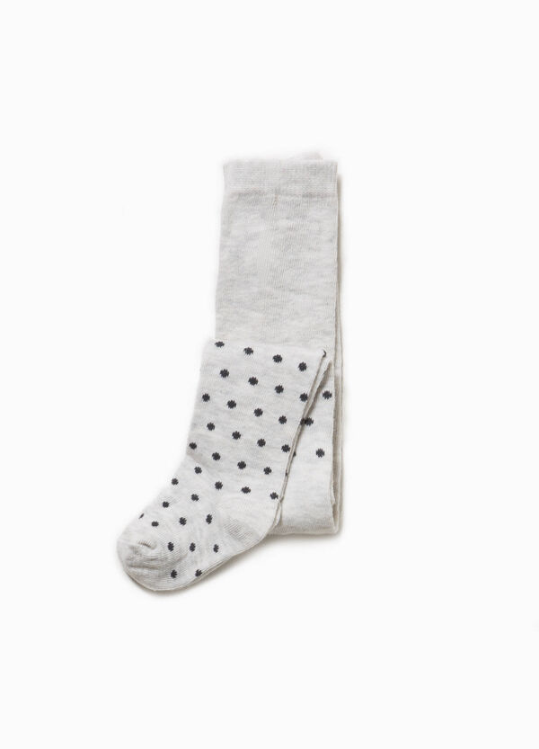 Polka dot tights in cotton | OVS