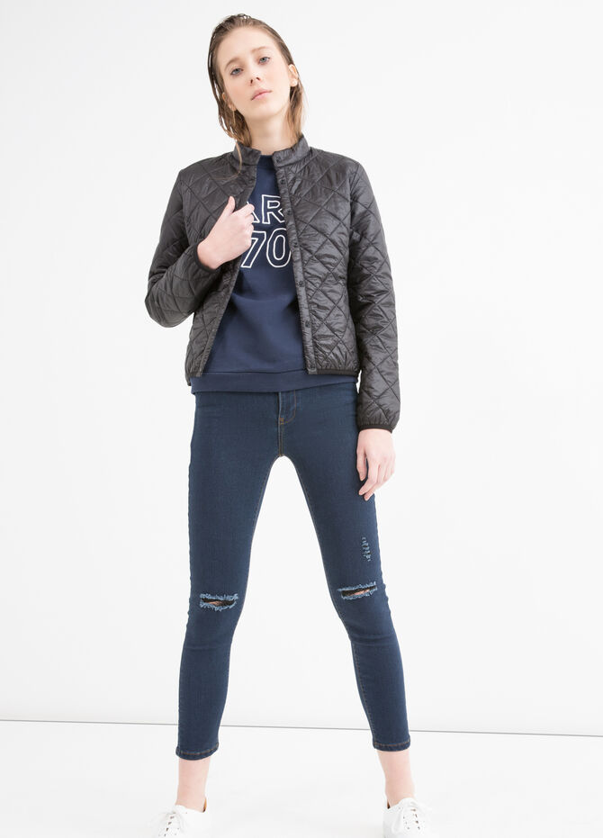 Ultra-light quilted down jacket
