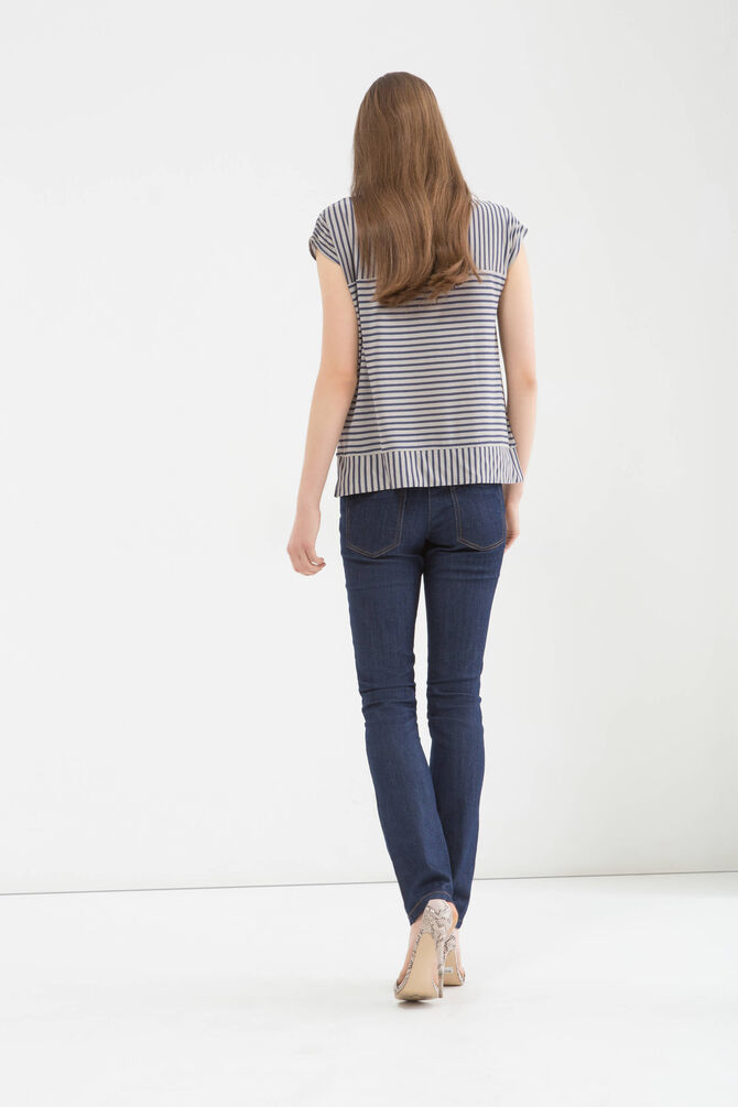 Striped, 100% viscose T-shirt