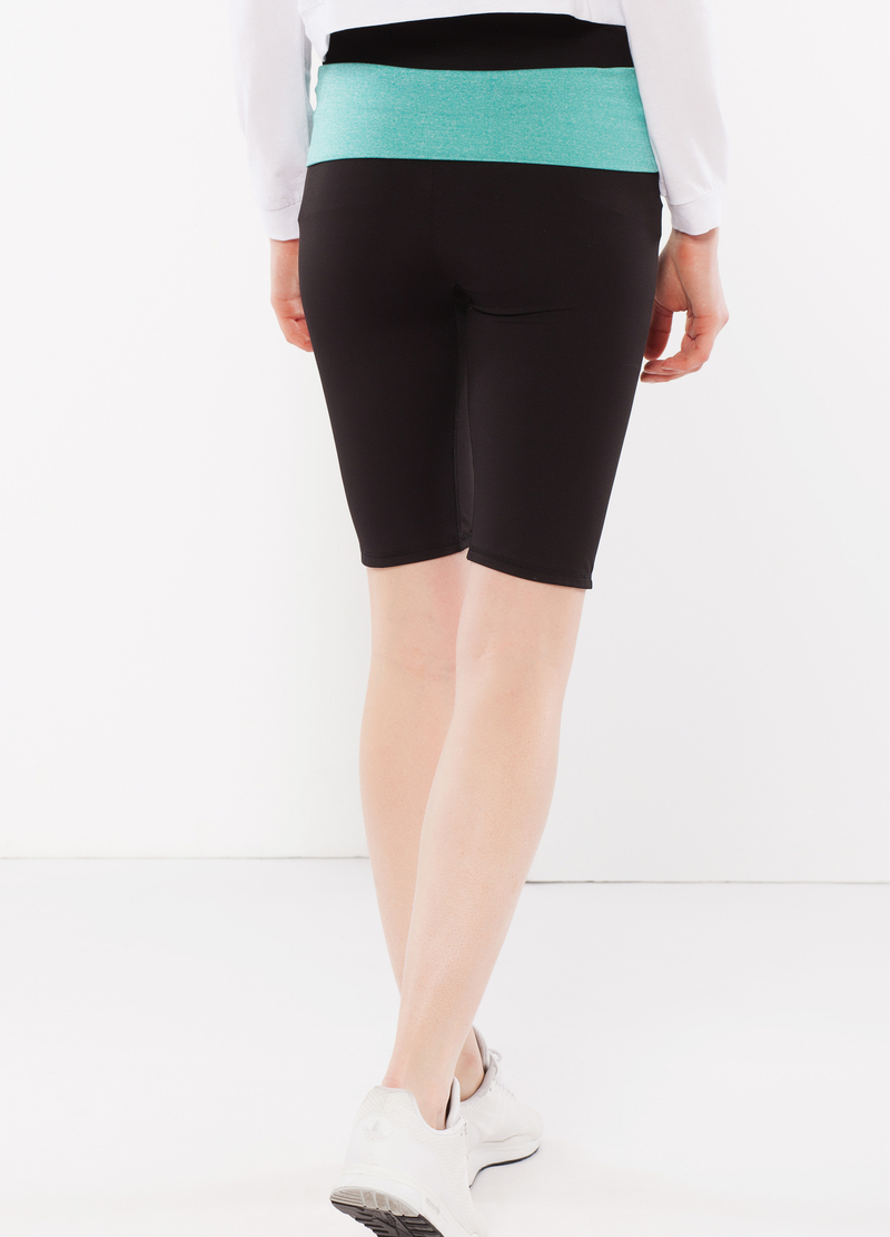 Two-tone stretch shorts. image number null