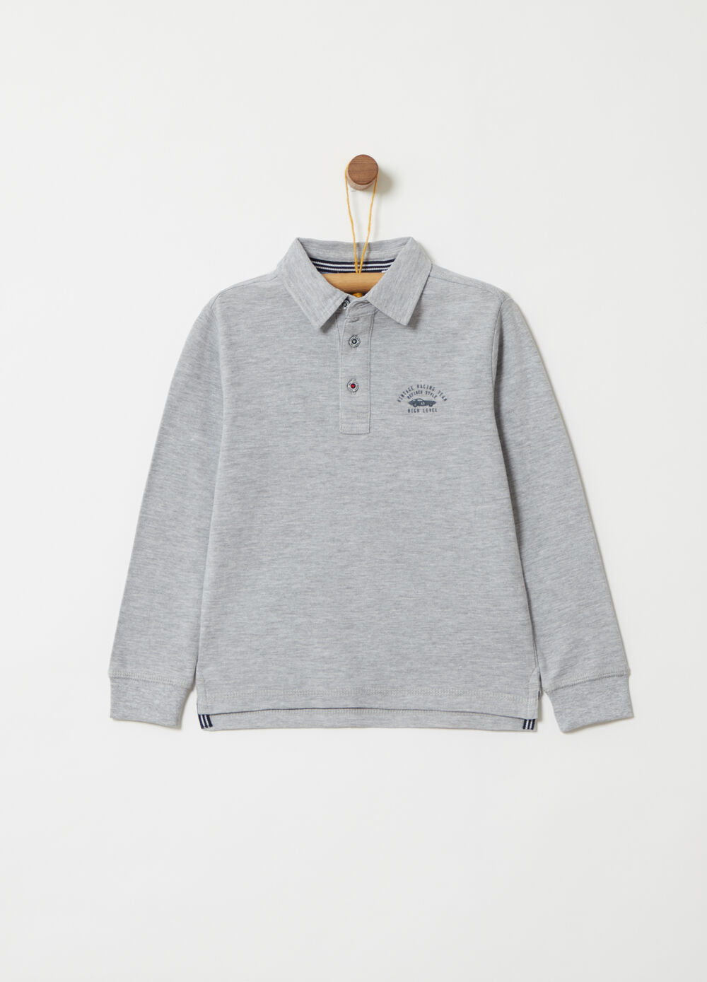 Polo shirt in piquet with decorative details