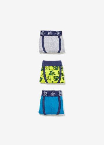 Three-pack solid colour and Star Wars patterned boxers