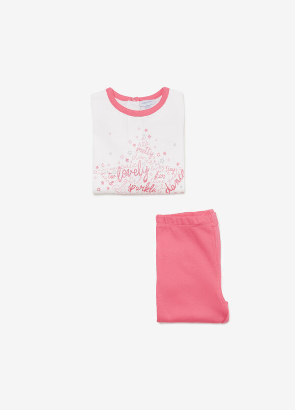 Cotton pyjamas with lettering and stars
