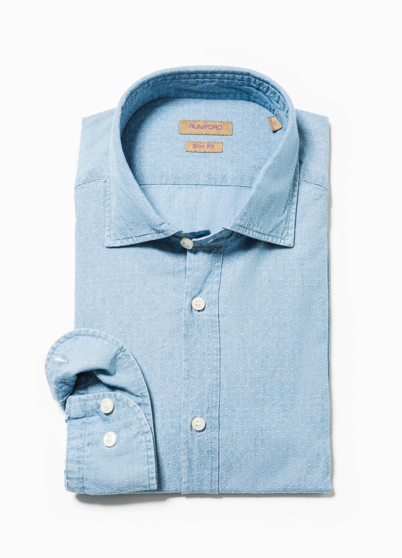 Camicia Rumford slim fit a micro pois image number null