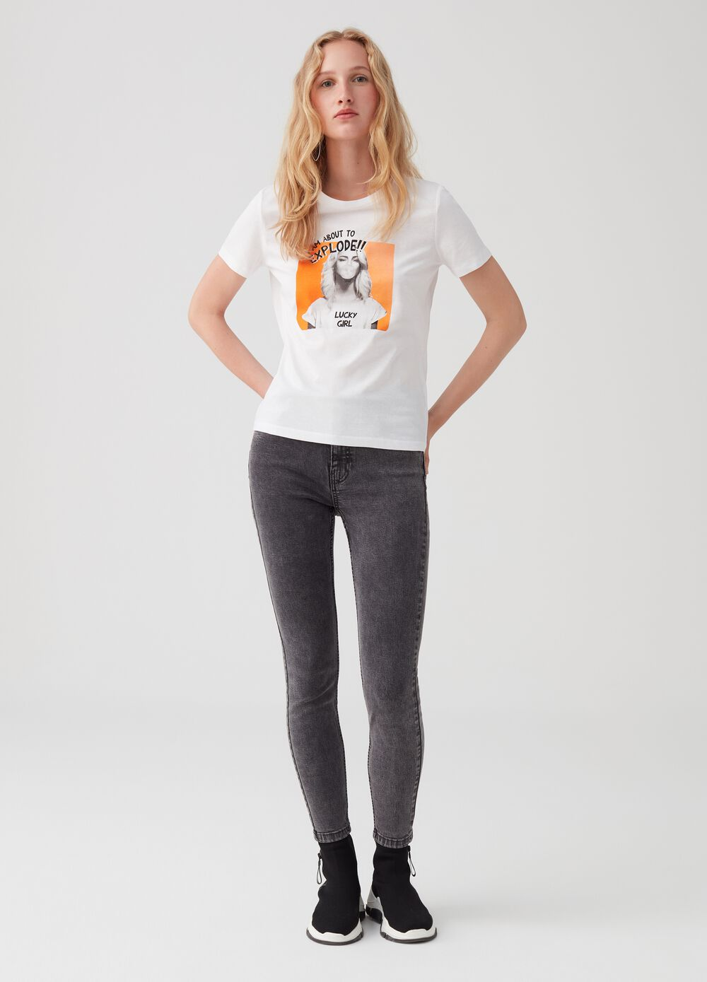 Jeans superskinny fit con Lyocell