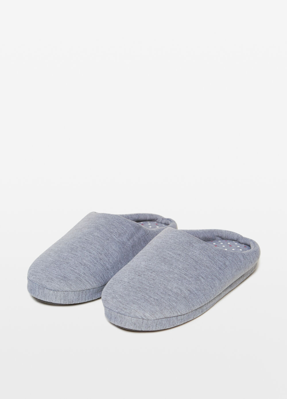 Solid colour microfibre slippers
