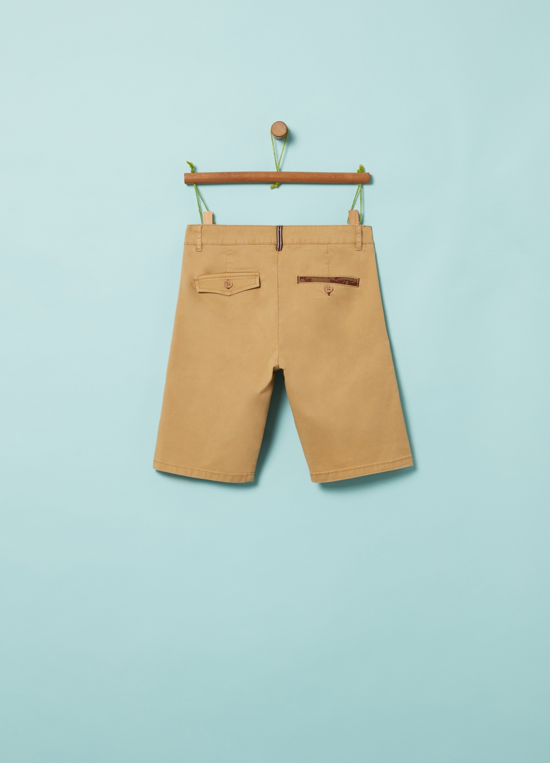 Stretch cotton chino Bermuda shorts image number null