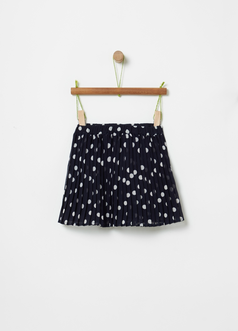 Pleated polka dot skirt image number null