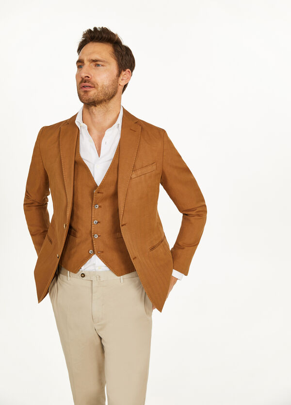 Rumford jacket in cotton and linen