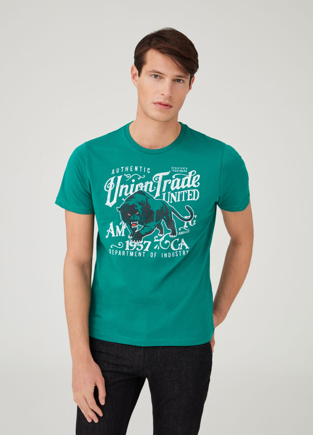Printed T-shirt in 100% cotton jersey