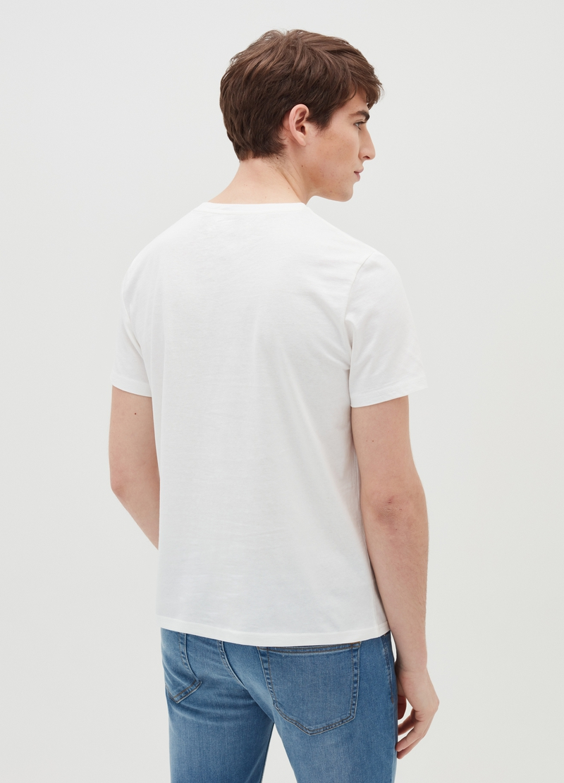 T-shirt in cotone con stampa New York image number null