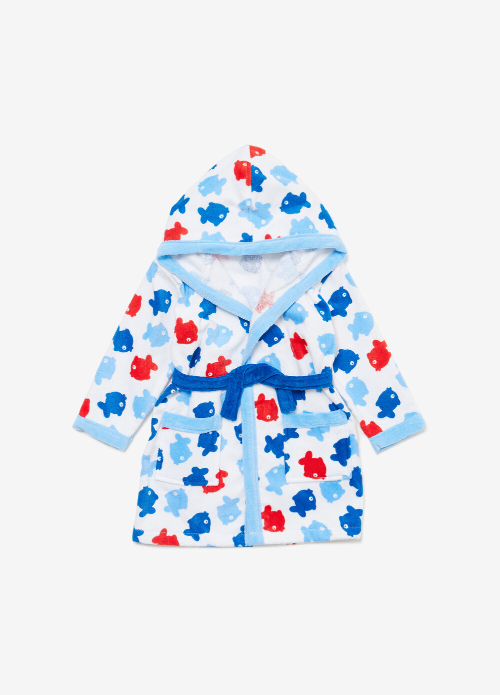 100% cotton fish bathrobe