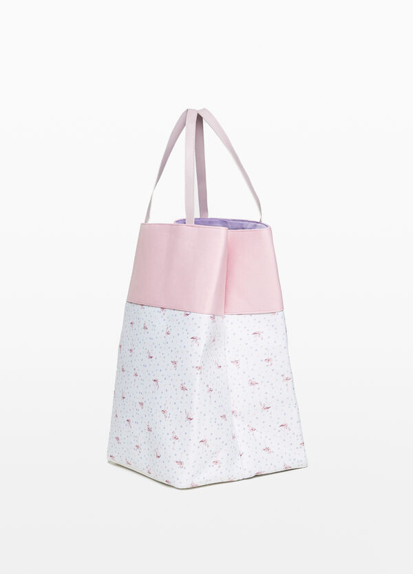 Laundry basket with stars and flamingos