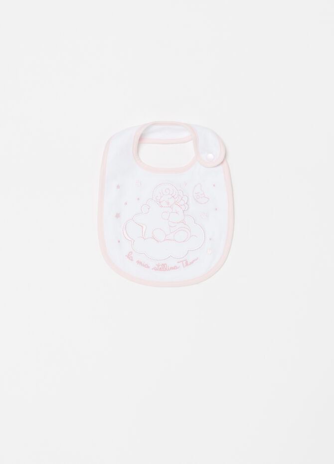 THUN bib in double jersey with embroidery