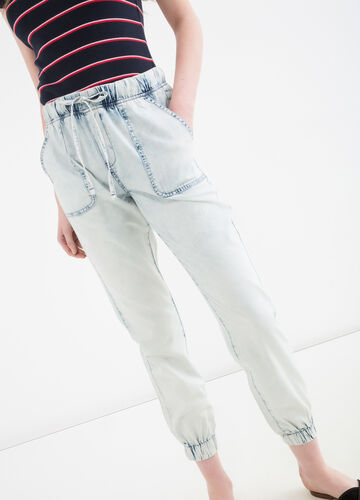 Jeans regular fit con coulisse