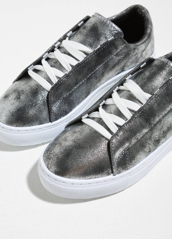 Sneakers with glitter upper | OVS
