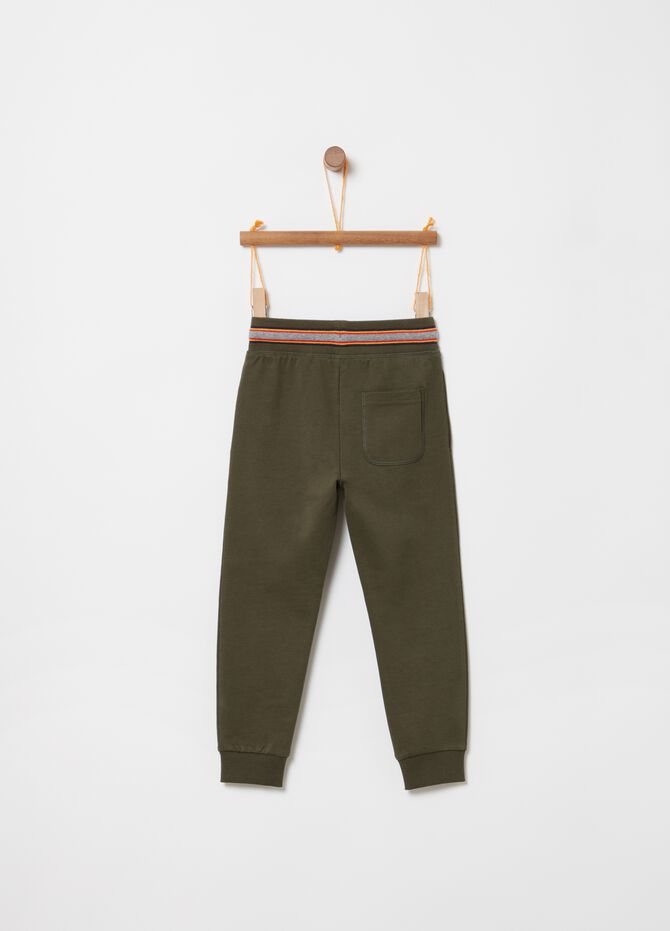 Pantaloni in French Terry con tasche