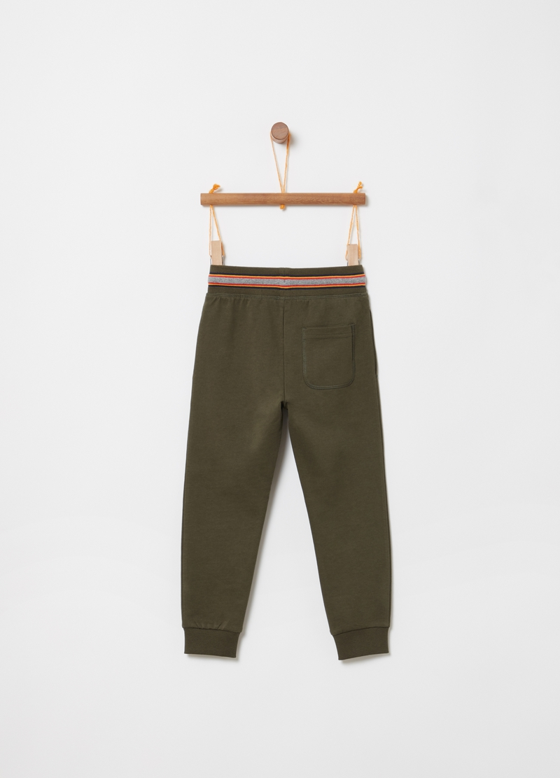 Pantaloni in French Terry con tasche image number null