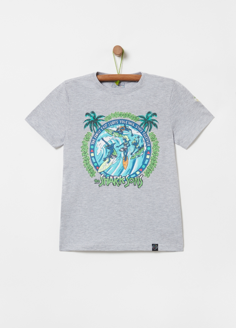 Mélange T-shirt with Maui and Sons print image number null