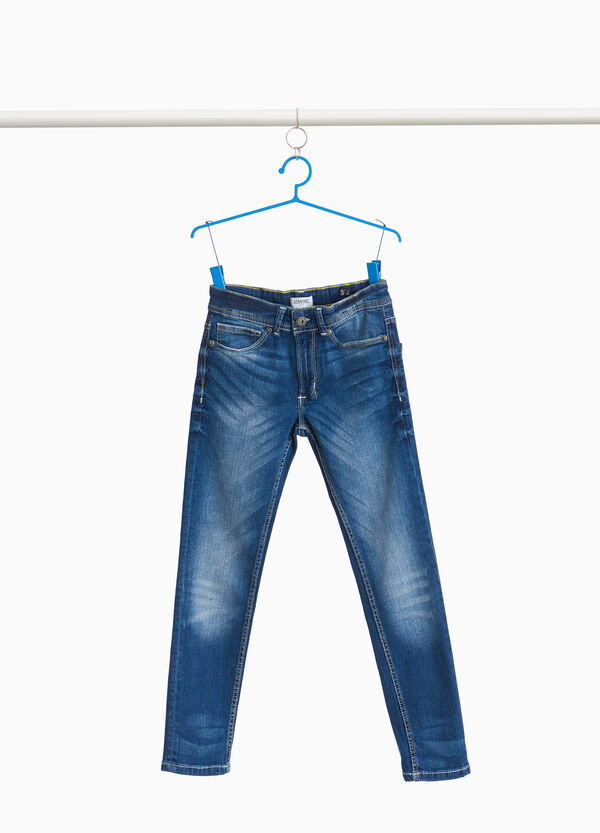 Jeans straight fit stretch effetto used