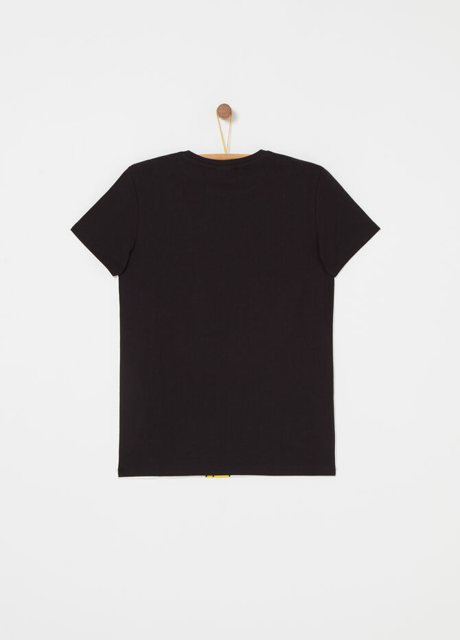 T-shirt color block con stampa Simpson