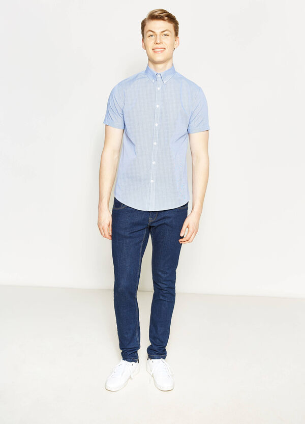 Regular-fit micro-check casual shirt | OVS