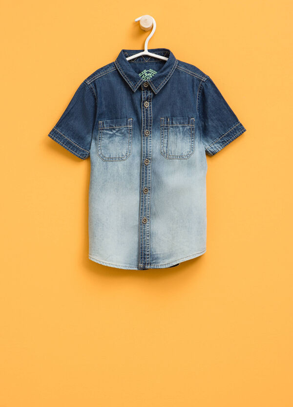 Denim shirt with degradé effect | OVS