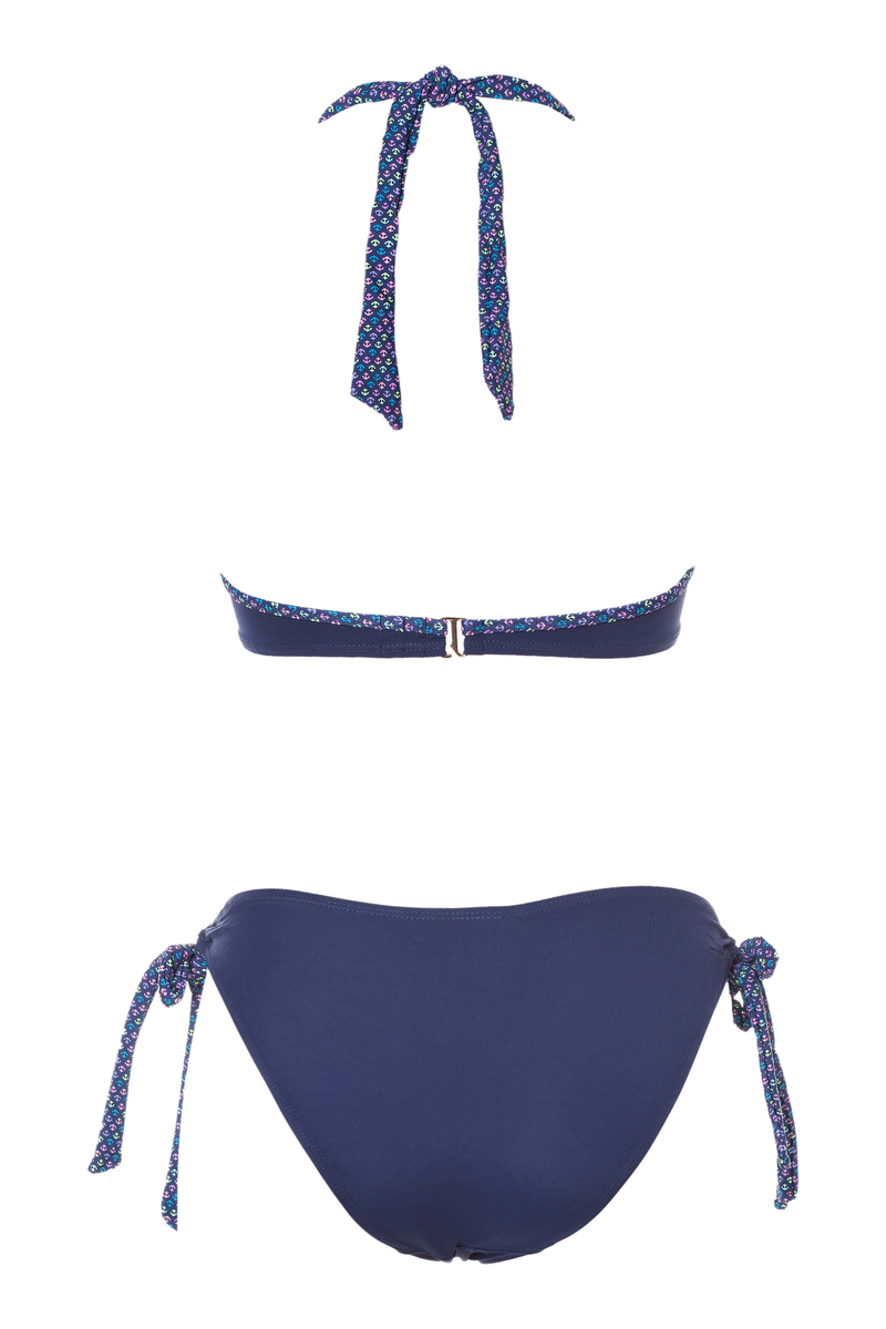 Bikini top and bottoms with ties image number null