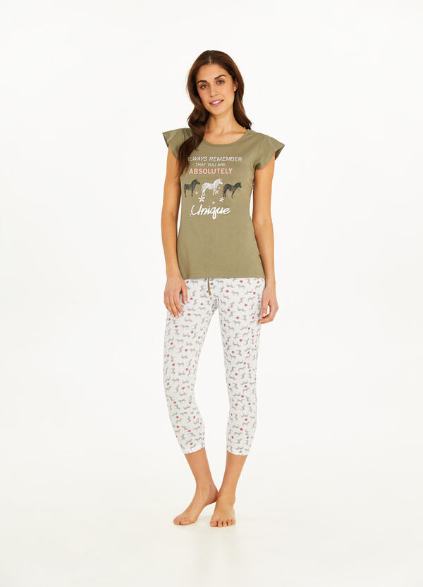 Cotton pyjamas with zebra print