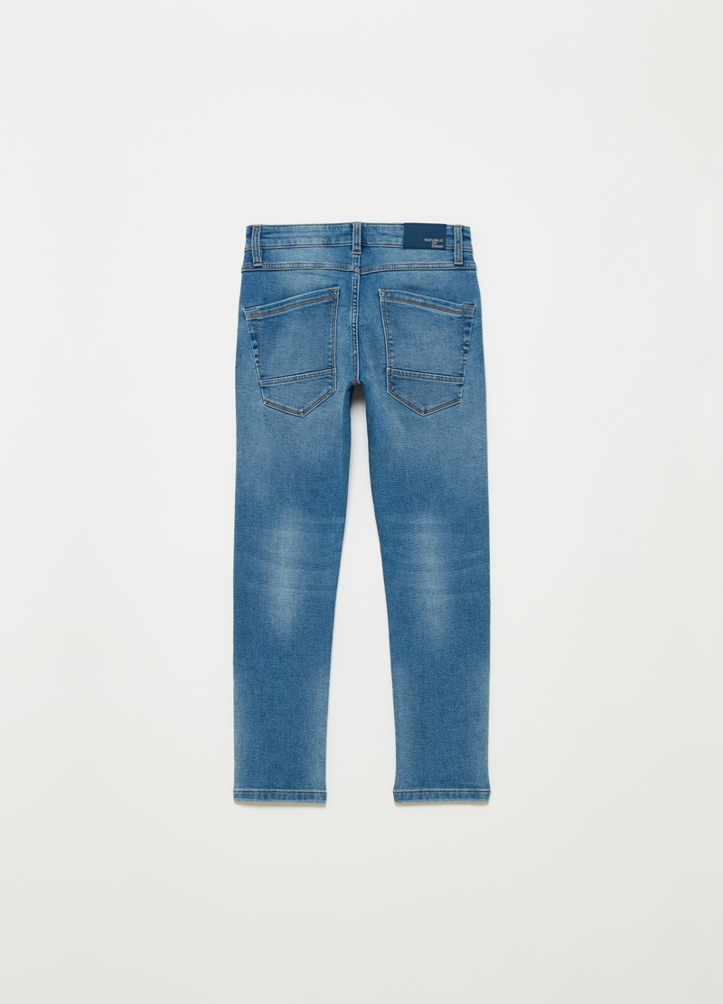 Slim fit stretch jeans with five pockets image number null