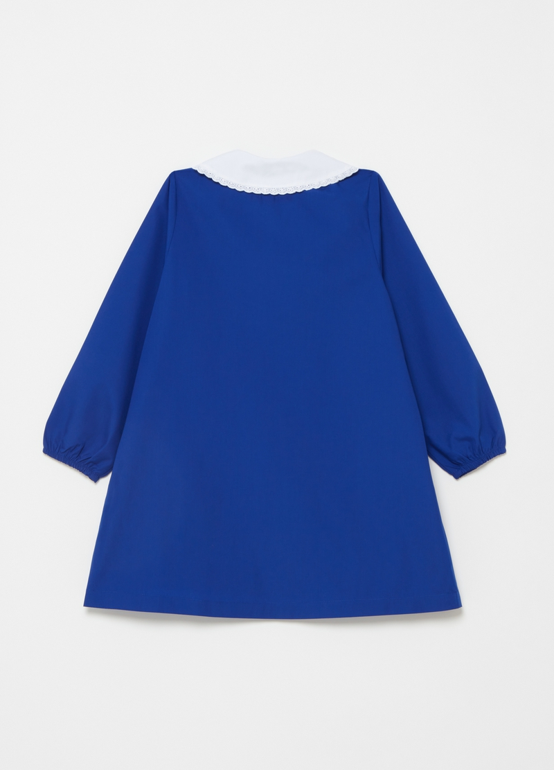 Smock with rounded collar and diamantés image number null