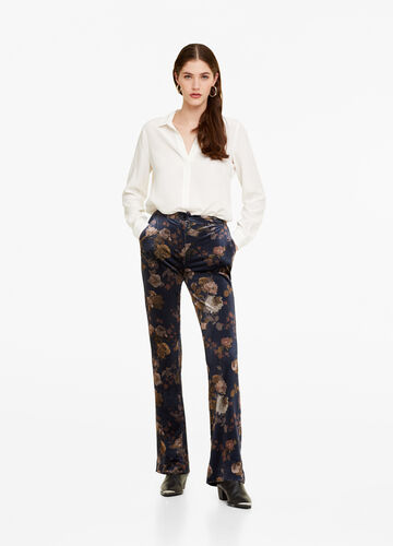 Palazzo trousers with floral print