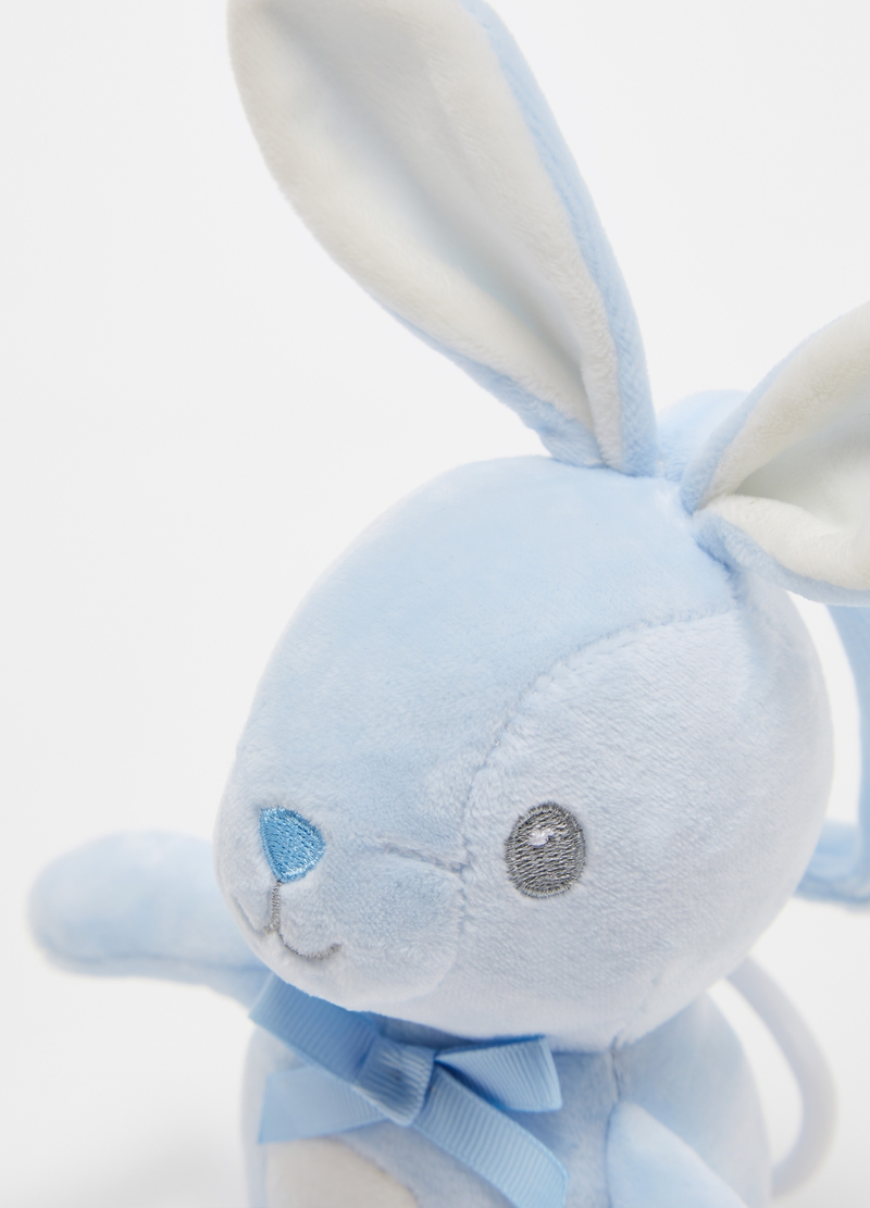 Musical rabbit soft toy with bow image number null