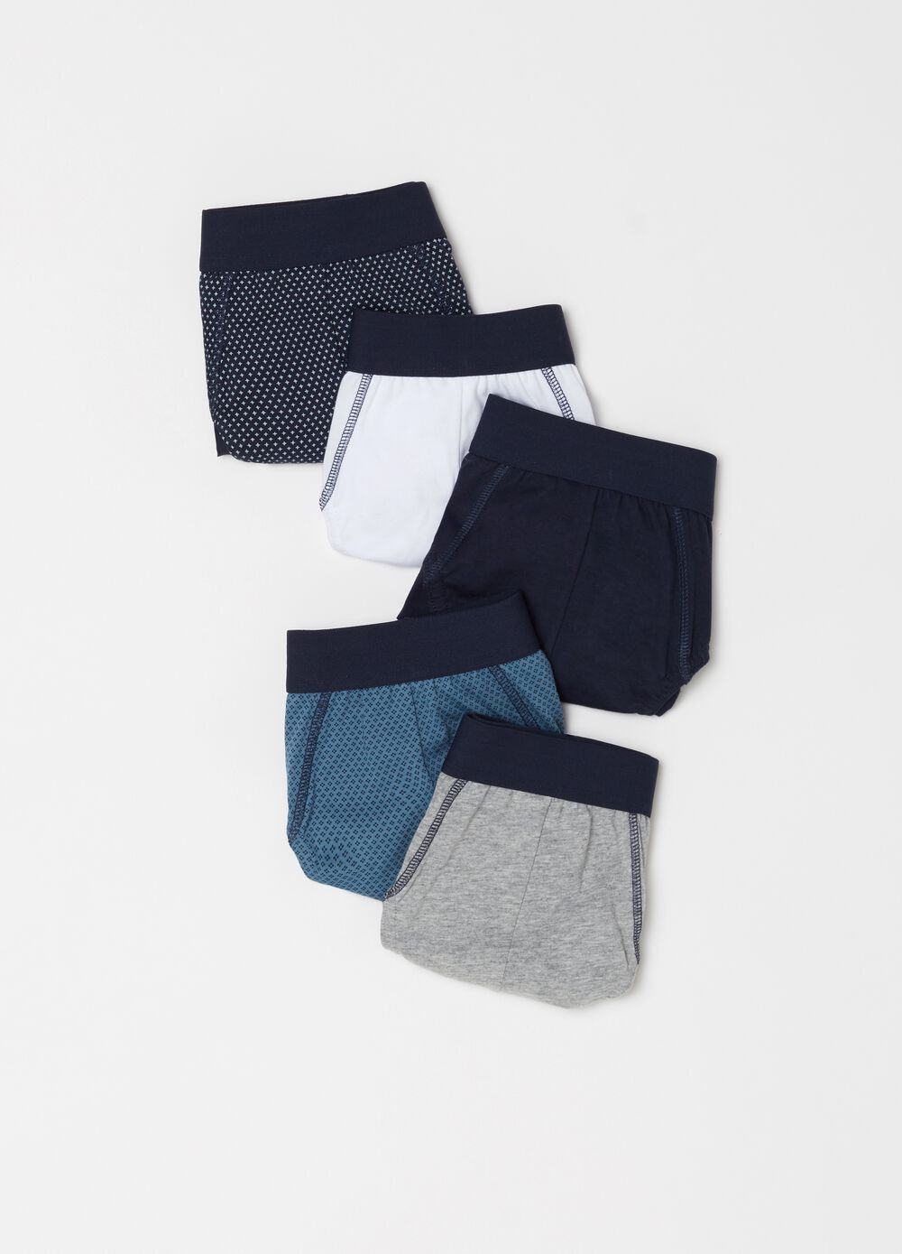 Set of patterned briefs in 100% cotton