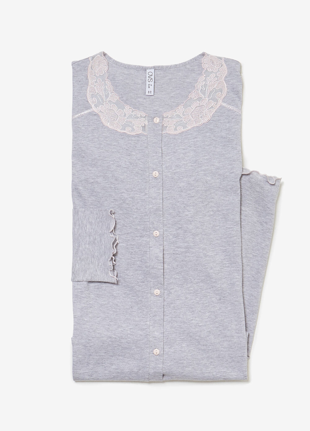 100% cotton nightshirt with lace