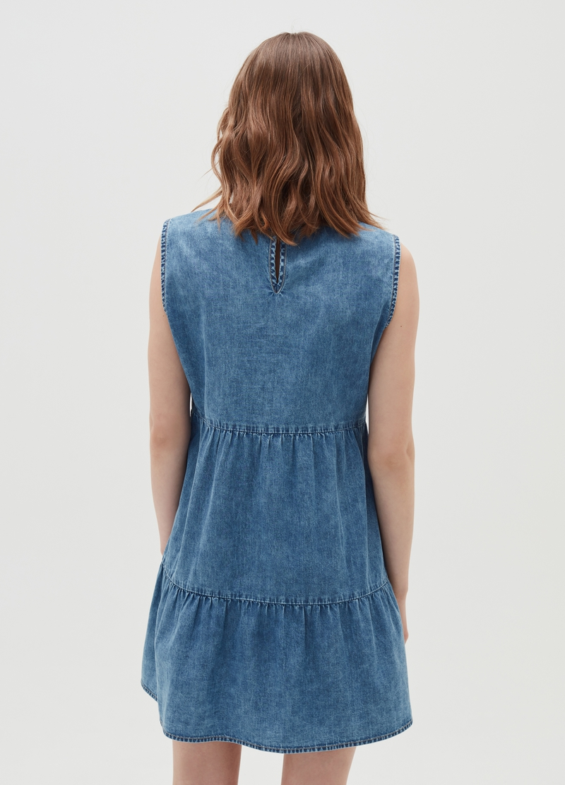 Abito in denim a balze image number null