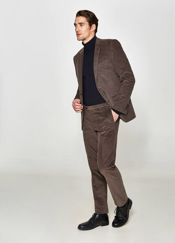 Regular-fit elegant jacket in stretch cotton