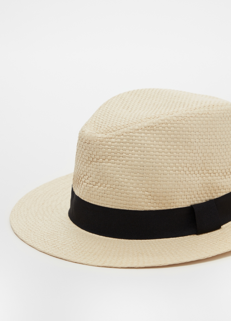 Panama hat with ribbon image number null