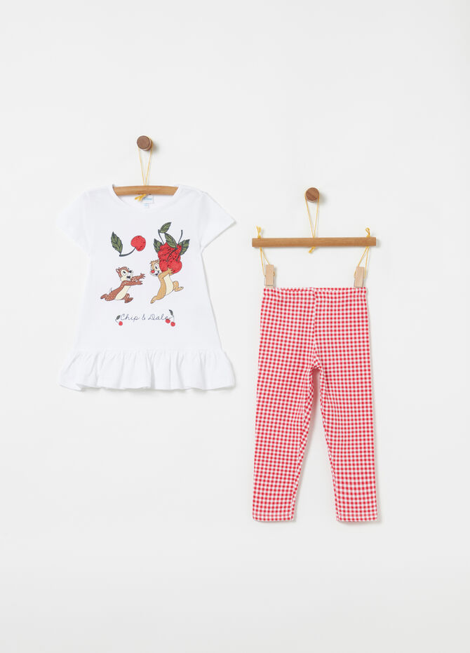 Jogging set rouches fantasia vichy Disney