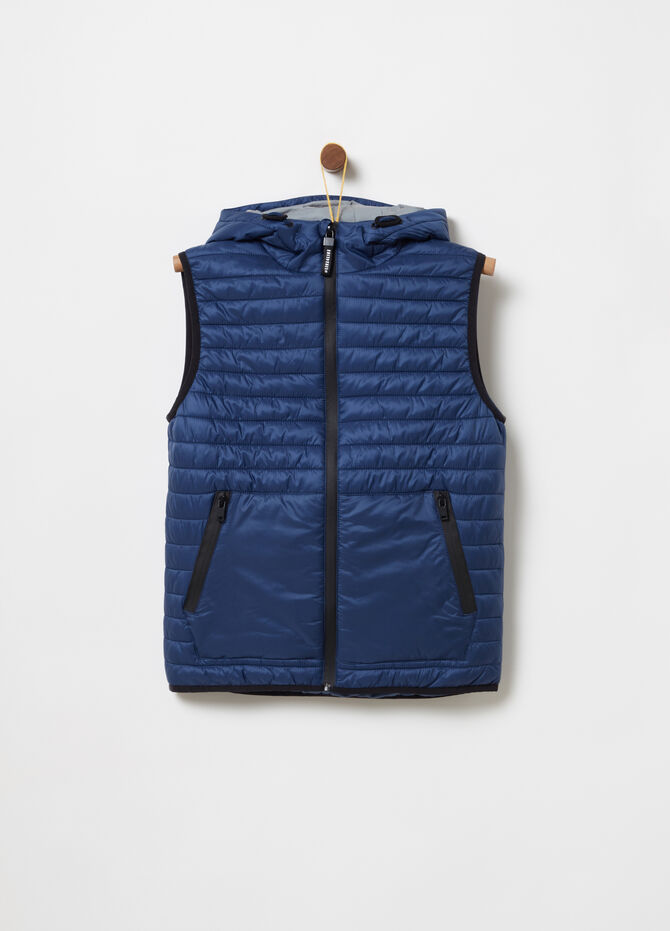 Ultralight nylon gilet with padding